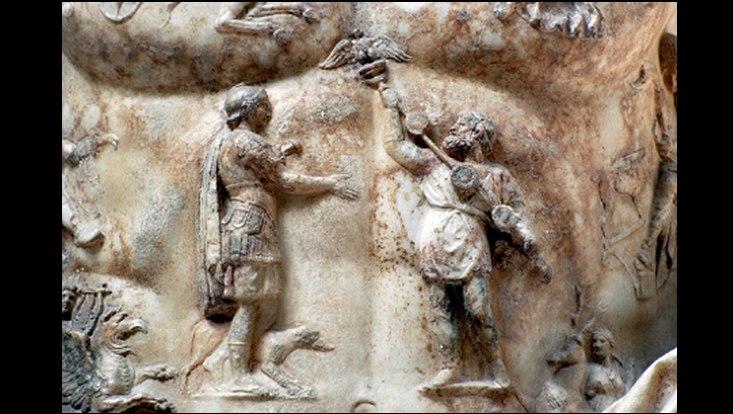 Detail aus dem Brustpanzer des Augustus von Primaporta