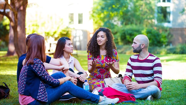 Gruppe internationaler Studierender