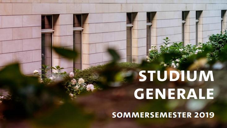 Studium Generale im SoSe 2019