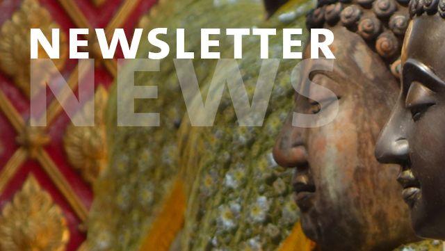 Newsletter mit Buddha