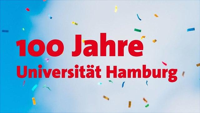 100 Jahre Universität Hamburg mit Konfetti