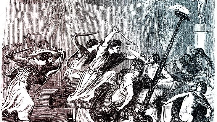 Tyrannenmord. Englische Darstellung des 19. Jahrhunderts