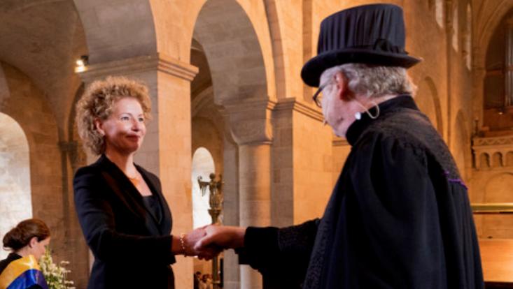 Prof. Dr. Corinna Körting bei der Verleihung der Ehrendoktorwürde der Lund University