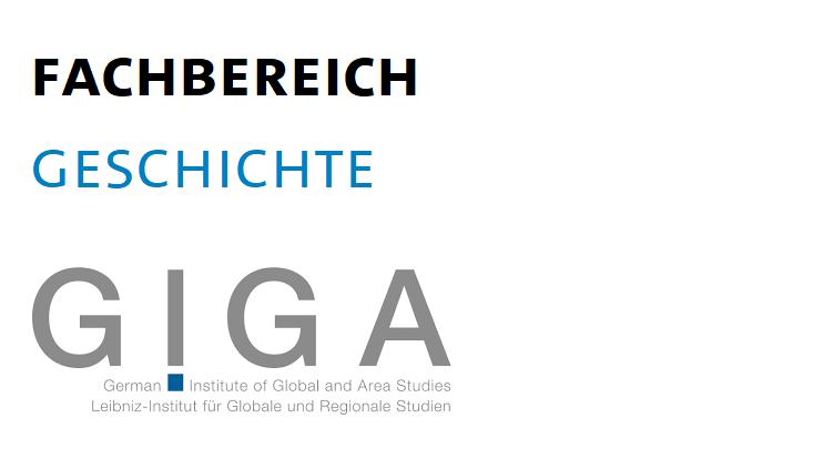 Logos des Fachbereichs Geschichte sowie des GIGA