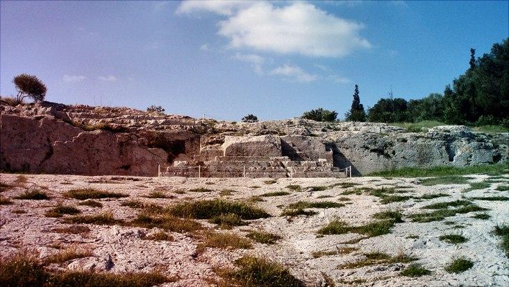 Die Bema auf der Pnyx in Athen