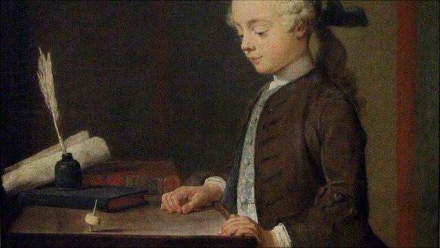 Chardin: giovane con toton
