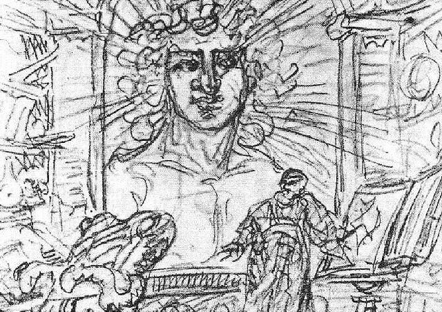 Illustration aus Goethe Faust und Erdgeist