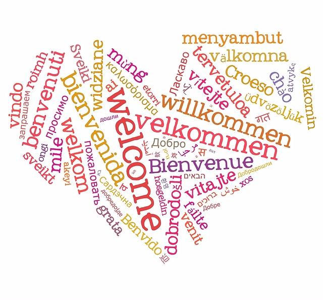 willkommen verschiedene Sprachen
