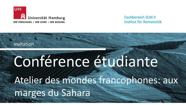 Posterausschnitt Studierendenkonferenz Sahara