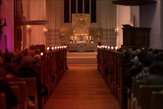 Der Festgottesdienst anlässlich der Hundertjahrfeier der Universität Hamburg am 28.10.2019 in St. Katharinen.