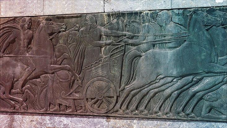 Relief Kriegsschauplatz in der Antike