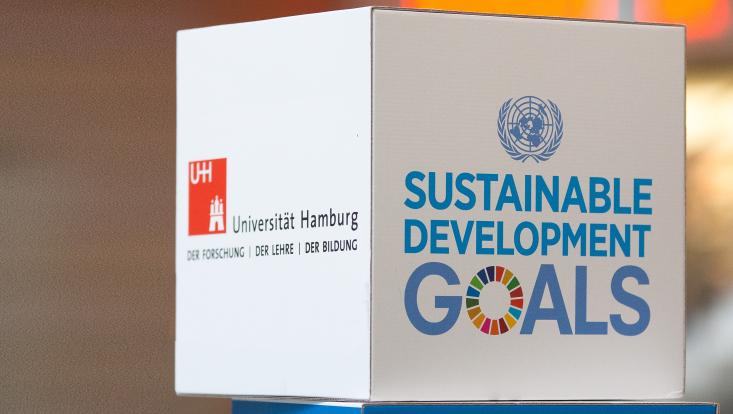 Nachhaltigkeit mit UHH-Logo