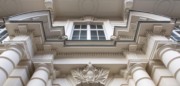 Moorweidenstraße 18 Detail des Eingangs