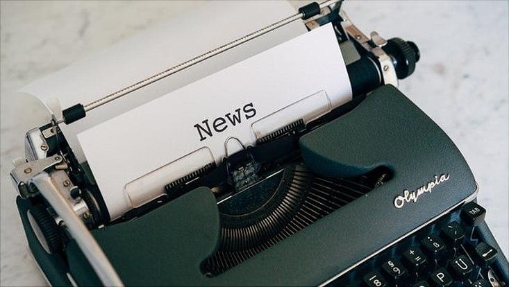 Schreibmaschine mit NEWS getippt