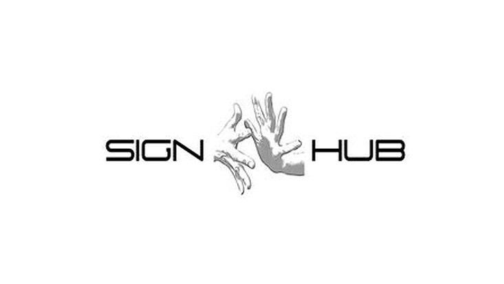 Logo vom Sign-Hub-Projekt/ logo of the Sign-Hub-Project