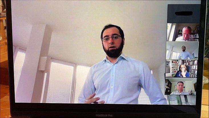 Dieses Bild zeigt einen Screenshot der digitalen Disputation von Herrn Nowitzki
