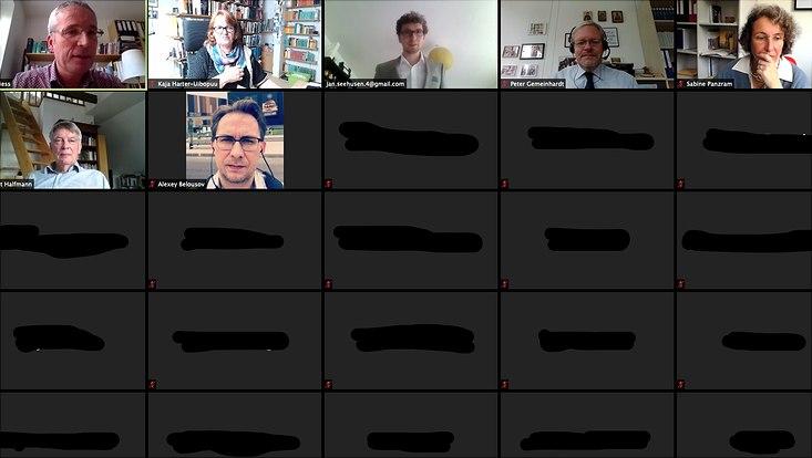 Dieses Bild zeigt einen Screenshot der digitalen Disputation von Herrn Seehusen