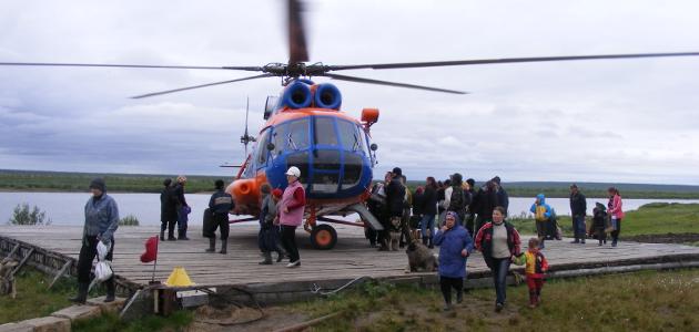 Hubschrauber landet