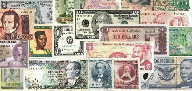 Geldscheine aus vielen Ländern
