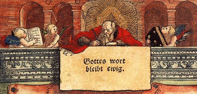 Lutherbibel-Deckblatt Detail