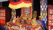 Tibetan altar displayed at the exhibition in Hamburg.