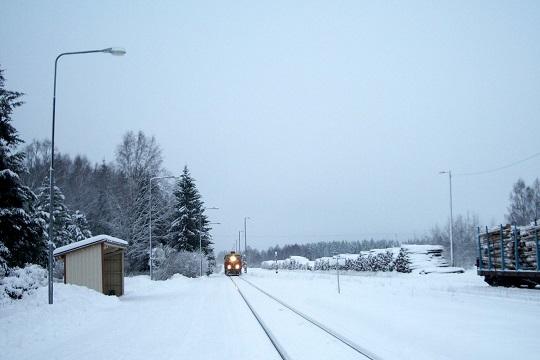 Schneelandschaft, Finnland