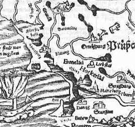 Landkarte Preussen