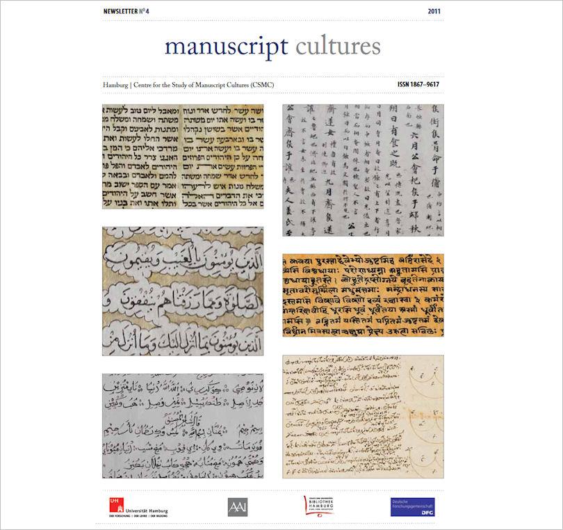 Titelblatt manuscript cultures