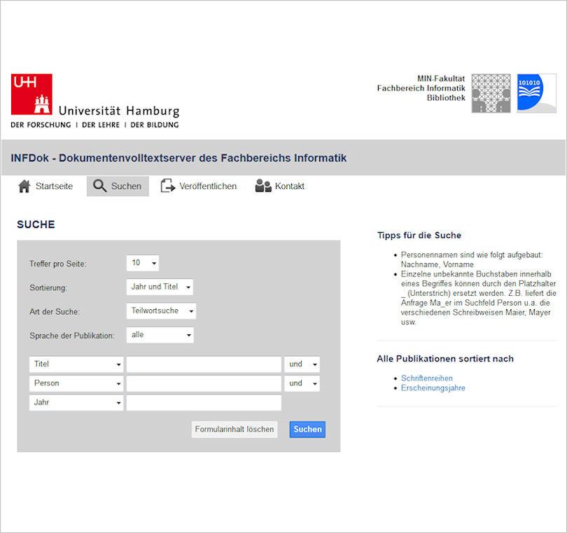 Webseite InfDok