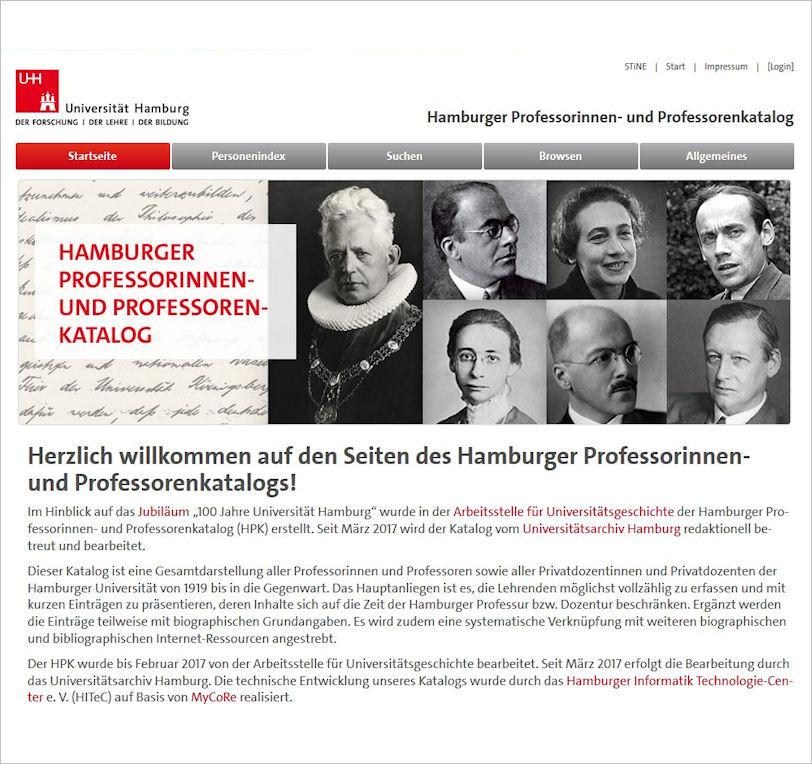 Startseite Professorenkatalog