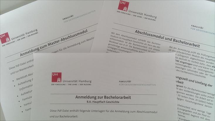 Anmeldung zum B.A.- und M.A.-Abschlussmodul