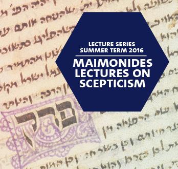 Maimonides Lecture 2016