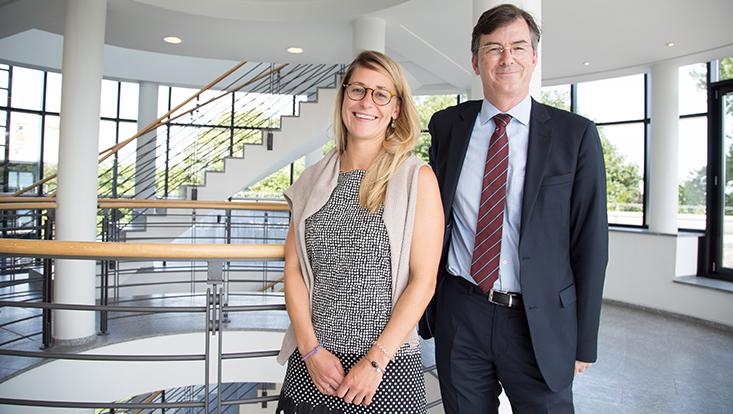 Elena Nendza und Prof. Dr. Marc Föcking
