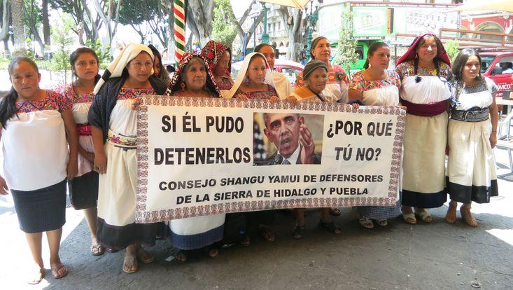 Widerstand gegen die geplante Gas-Pipeline von Tuxpan nach Tula, Mexiko 2016