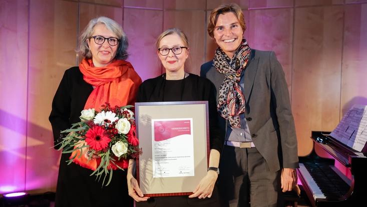 Prof. Dr. Anja Tippner während der Preisverleihung