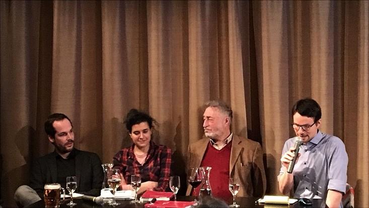 Max Czollek, Anna Schapiro, Micha Brumlik und Sebastian Schirrmeister
