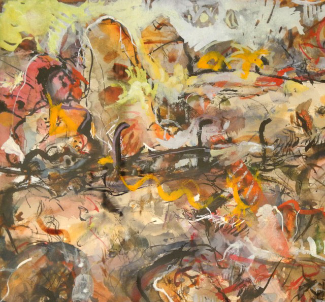 Gemälde 'Mauerliebe'