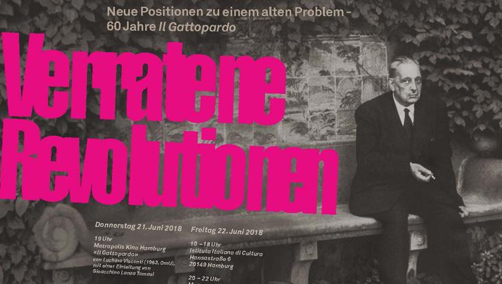 Poster der Tagung zu 60 Jahre Il Gattopardo