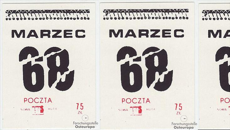 Kalenderblätter März '68 mit Stempel