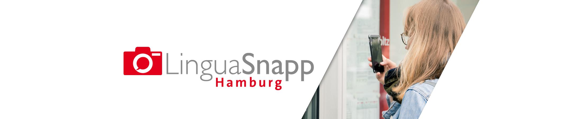 Logo des Projekts LingusSnappHamburg (https://www.linguasnapp.uni-hamburg.de/)