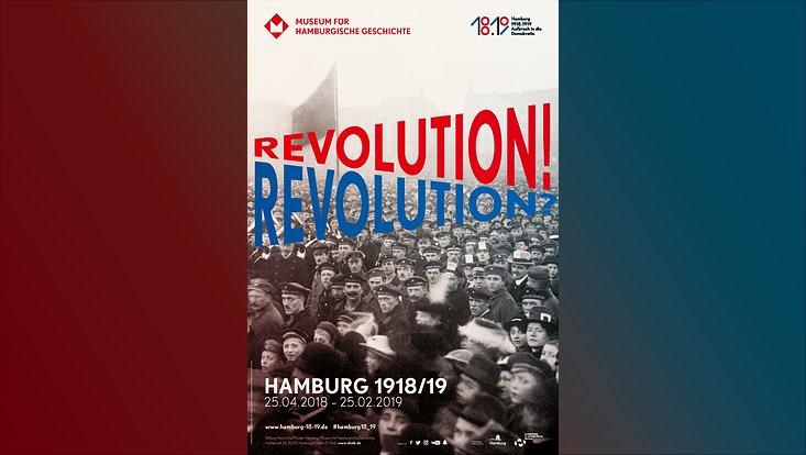 Menschenmenge wärend einer Demonstration in der Zeit 1818 und 1819 zum Themenhar Aufbruch in die Demokratie des Museum für Hamburgische Geschichte