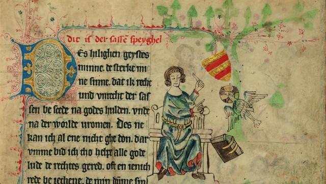 Die Oldenburger Bilderhandschrift des Sachsenspiegels von 1336, Landesbibliothek Oldenburg, Cim 410 I, fol 6r